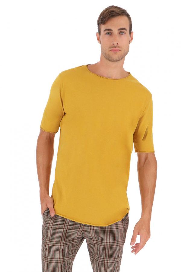 T shirt T084WBJL jaune 1