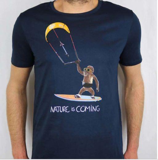 T shirt singe surf Béziers