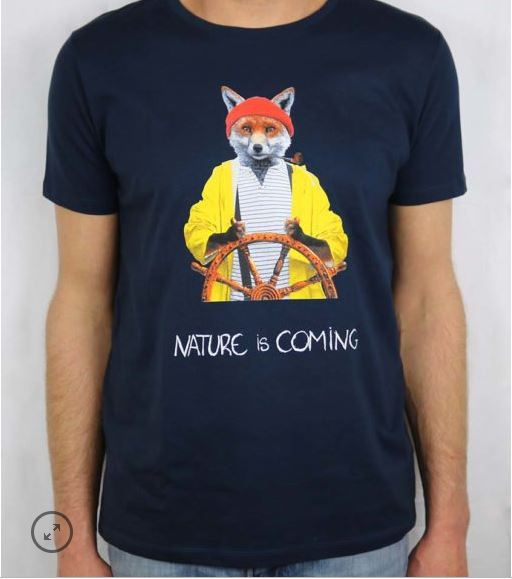 T shirt renard marin Béziers