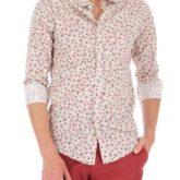 Chemise à fleurs mastic Imperial Béziers