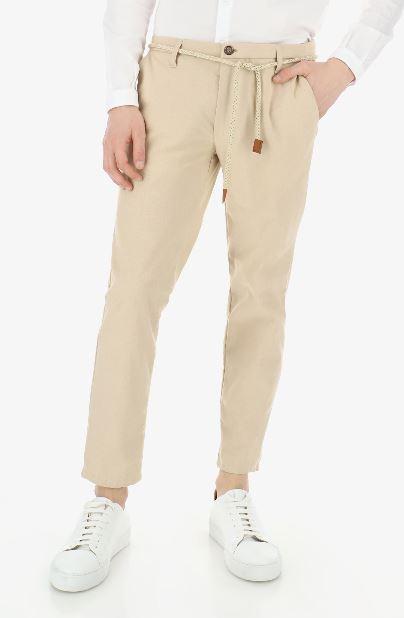 Pantalon chino avec cordon beige Imperial B'3 Quatre Béziers