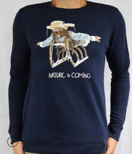 Sweat coton bio Nature is Coming B'3 Quatre Béziers