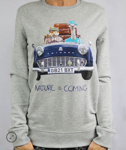 Sweat coton bio Nature is Coming B'3 Quatre Béziers