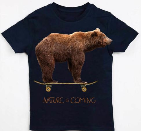 T-shirt Nature is Coming coton Bio B'3 Quatre Béziers