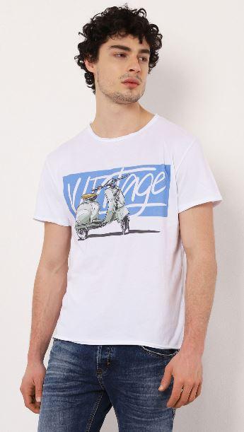 T-shirt imprimé en coton manches courtes Imperial B'3 Quatre Béziers