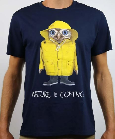 T-shirt coton Bio Nature is Coming B'3 Quatre Béziers